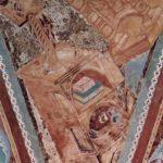 Чимабуэ, Джованни. Фрески Верхней церкви Сан Франческо в Ассизи, фреска на средокрестном своде, сцена: св. Иоанн Евангелист, деталь: архитектура. 1280-1283