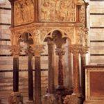 Пизано, Никколо. Кафедра баптистерия в Пизе 1260 Мрамор Пиза. Баптистерий