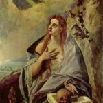 Эль Греко Кающаяся Мария Магдалина Около 1580 156,5 x 121 см Холст, масло Будапешт. Венгерский музей изобразительных искусств