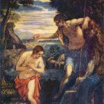 Тинторетто, Якопо Крещение Христа Вторая половина 16 века 137 x 105 см Холст, масло Мадрид. Прадо