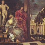 Веронезе, Паоло Купание Вирсавии Вторая треть 16 века Холст, масло Лион. Музей изящных искусств
