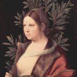 Джорджоне Лаура (портрет молодой женщины) Около 1506 41 x 33,6 см Холст, наклеенный на дерево Вена. Музей истории искусства