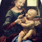 Леонардо да Винчи Мадонна Бенуа Около 1478 49,5 x 31,5 см Дерево, масло Санкт-Петербург. Государственный Эрмитаж