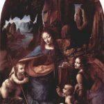 Леонардо да Винчи Мадонна в скалах 1503-1506 189,5 x 120 см Дерево, масло Лондон. Национальная галерея Первоначально центральная часть триптиха, см. также парижскую версию