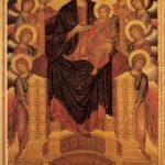 Чимабуэ, Джованни. Мадонна со святыми (Мадонна Санта Тринита). 1280-1285