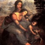 Леонардо да Винчи Мадонна с младенцем и Св. Анной Около 1510 168 x 112 см Дерево, масло Париж. Лувр
