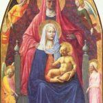 Мазаччо Мадонна с младенцем и Св. Анной 1425 175 x 103 см Дерево Флоренция. Галерея Уффици