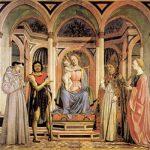 Доменико Венециано Мадонна с младенцем и святыми (Алтарь Св. Лючии) Около 1445 209 x 216 см Дерево, темпера Флоренция. Галерея Уффици
