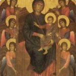 Чимабуэ, Джованни. Мария с ангелами, из церкви Сан Франческо в Пизе. Около 1280