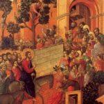 Дуччо ди Буонинсенья. Маэста. Вход в Иерусалим. 1308-1311