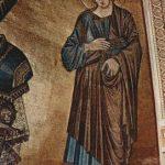 Чимабуэ, Джованни. Мозаика кафедрального собора в Пизе, сцена: Христос на престоле с Марией и Иоанном, деталь: Иоанн. 1301-1302
