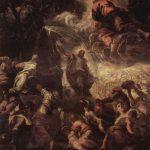 Тинторетто, Якопо Моисей высекает воду из скалы 1577 554 x 526 см Холст, масло Венеция. Скуола Сан Рокко