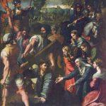 Рафаэль Санти Несение креста Около 1516 318 x 229 см Холст, масло Мадрид. Прадо Первоначально алтарая картина для Санта Мария делло Спазимо в Палермо, написана совместно с учениками Рафаэля