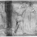 Донателло Несение креста Первая половина 15 века Перо, отмывка Четсуорт (графство Дербишир). Девонширская коллекция