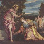 """Веронезе, Паоло Noli me tangere (""""Не прикасайся ко мне"""") Вторая треть 16 века Холст, масло Гренобль. Городской музей"""
