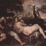 Тициан Вечелио Нимфа и пастух Около 1570 149,7 x 187 см Холст, масло Вена. Музей истории искусства