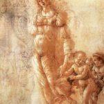 Боттичелли, Сандро Осень 31,7 x 25,3 см Черный мел, перо, коричневые чернила, акварель, белила на тонированной бледно-розовой бумаге Лондон. Британский музей