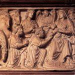 Пизано, Никколо. Поклонение волхвов.85 x 113 см Мрамор. Пиза. Баптистерий