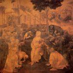 Леонардо да Винчи Поклонение волхвов Около 1482 246 x 243 см Дерево Флоренция. Галерея Уффици