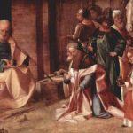 Джорджоне Поклонение волхвов 1500-1510 29 x 81 см Дерево Лондон. Национальная галерея