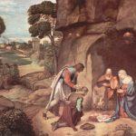 Джорджоне Поклонение пастухов Около 1500-1510 91 x 111 см Дерево Вашингтон (округ Колумбия). Национальная галерея