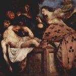 Тициан Вечелио Положение во гроб Около 1566 130 x 168 см Холст, масло Мадрид. Прадо