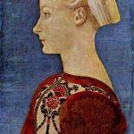 Доменико Венециано Портрет знатной молодой дамы, фрагмент Середина 15 века 51 x 35 см Дерево Берлин. Картинная галерея