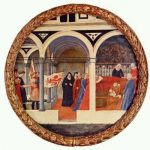 Мазаччо Посещение роженицы Около 1425-1428 Диаметр: 56 см Дерево Берлин. Картинная галерея