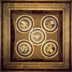 Роббиа, Лукка делла Потолок капеллы кардинала Португальского 1461-1462 Терракота, роспись, эмаль Флоренция. Сан Миньято аль Монте