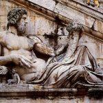 Микеланджело Буонаротти Речной бог на лестнице палаццо Сенаторов Рим