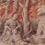 Мантенья, Андреа Самсон и Далила 1495 47 x 37 см Холст Лондон. Национальная галерея Монохромная картина (гризайль) на крашенном охрой фоне