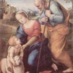 Рафаэль Санти. Святое семейство с агнцем. 1507