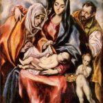 Эль Греко Святое семейство 1594-1604 107 x 69 см Холст, масло Мадрид. Прадо