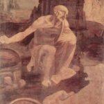 Леонардо да Винчи Св. Иероним Около 1480 103 x 75 см Дерево Рим. Ватиканская пинакотека Незавершенная картина