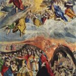 Эль Греко Сновидение Филиппа II Около 1580 139 x 109 см Холст, масло Мадрид. Эскориал