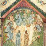 Собрание 11 апостолов с целью избрания 12-го вместо повесившегося Иуды