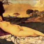 Джорджоне Спящая Венера Около 1510 108 x 175 см Холст, масло Дрезден. Картинная галерея