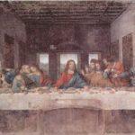 Леонардо да Винчи Тайная вечеря 1495-1497 420 x 910 см Фреска (масляная темпера) Милан. Трапезная монастыря Санта Мария делле Грацие