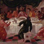 Эль Греко Тайная вечеря 1596 43 x 52 см Дерево, масло Болонья. Национальная пинакотека