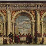 Веронезе, Паоло Трапеза в доме Левия Вторая треть 16 века 555 x 1280 см Холст, масло Венеция. Галерея Академии