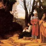 Джорджоне Три философа Около 1503-1504 123,5 x 144,5 см Холст Вена. Музей истории искусства