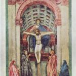 Мазаччо Троица, фрагмент 1427 680 x 475 см Фреска Флоренция. Санта Мария Новелла