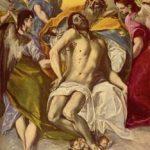 Эль Греко Троица 1577 300 x 179 см Холст, масло Мадрид. Прадо