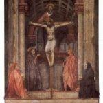 Мазаччо Троица Около 1425-1428 667 x 317 см Фреска Флоренция. Санта Мария Новелла