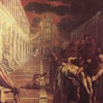 Тинторетто, Якопо Укрытие тела св. Марка 1562-1566 421 x 306 см Холст, масло Венеция. Галерея Академии