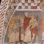 Чимабуэ, Джованни. Фрески Нижней церкви Сан Франческо в Ассизи, сцена: Св. Франциск отрекается от имущества. Около 1260