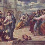 Эль Греко Христос исцеляет слепого Около 1570 65,5 x 84 см Дерево, масло Дрезден. Картинная галерея