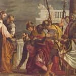 Веронезе, Паоло Христос и сотник из Капернаума Вторая треть 16 века 192 x 297 см Холст, масло Мадрид. Прадо
