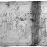Донателло Христос перед Пилатом Первая половина 15 века Перо на бумаге Четсуорт (графство Дербишир). Девонширская коллекция