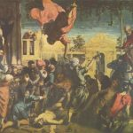"Тинторетто, Якопо Цикл картин ""Чудо св. Марка"". Чудо св. Марка 1548 415 x 541 см Холст, масло Венеция. Галерея Академии Первоначально в Скуоле Сан Марко в Венеции"